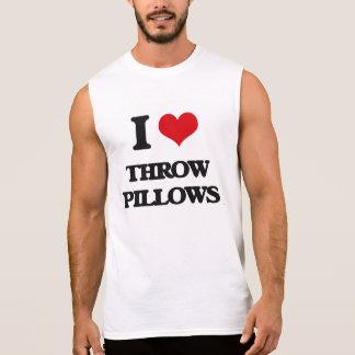 I love Throw Pillows Sleeveless T-shirts