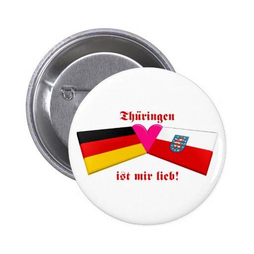 I Love Thueringen ist mir lieb 6 Cm Round Badge