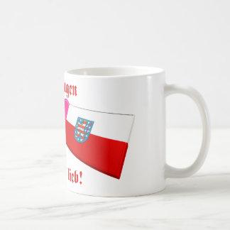 I Love Thueringen ist mir lieb Basic White Mug