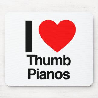 i love thumb pianos mousepad
