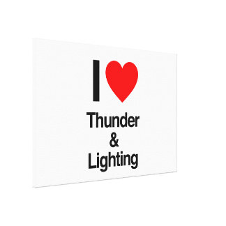 i love thunder and lightning stretched canvas print