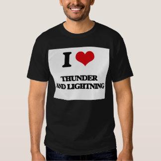I love Thunder And Lightning T Shirt