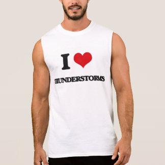 I love Thunderstorms Sleeveless Tees