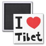 I love Tibet Fridge Magnet