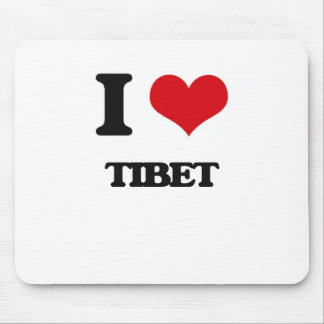 I Love Tibet Mousepads
