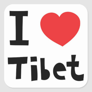 I love Tibet Square Sticker