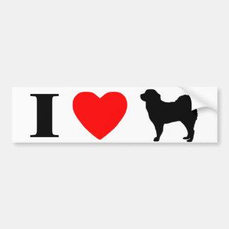 I Love Tibetan Mastiffs Bumper Sticker