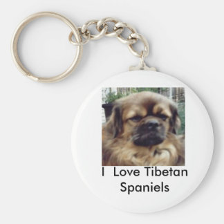 I  Love Tibetan Spaniels Key Ring