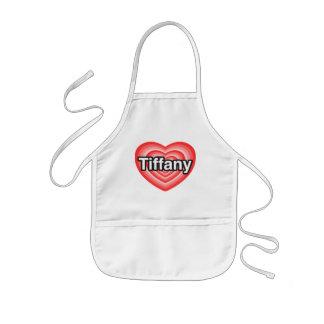 I love Tiffany. I love you Tiffany. Heart Kids Apron