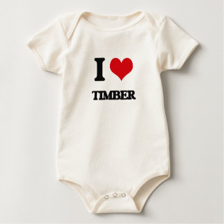 I love Timber Baby Bodysuit