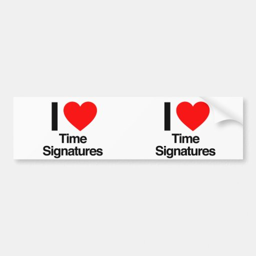 i love time signatures bumper sticker