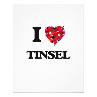 I love Tinsel 11.5 Cm X 14 Cm Flyer