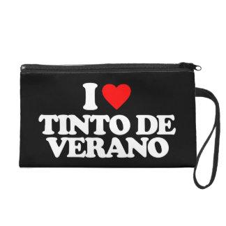 I LOVE TINTO DE VERANO WRISTLET PURSES