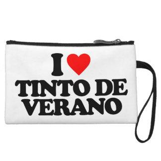 I LOVE TINTO DE VERANO WRISTLET PURSE