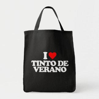 I LOVE TINTO DE VERANO CANVAS BAGS