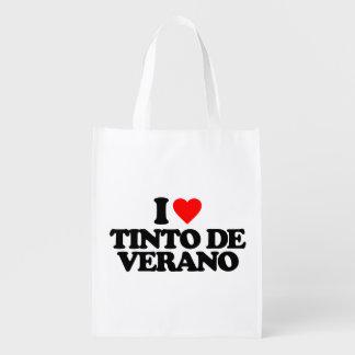I LOVE TINTO DE VERANO REUSABLE GROCERY BAG
