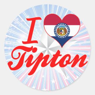 I Love Tipton, Missouri Sticker
