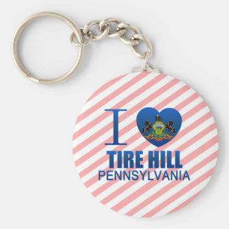 I Love Tire Hill, PA Keychain