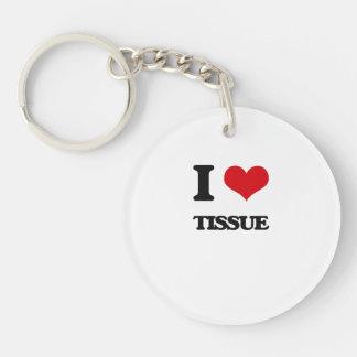I love Tissue Single-Sided Round Acrylic Key Ring