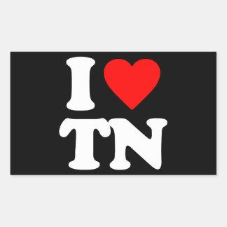 I LOVE TN RECTANGULAR STICKERS