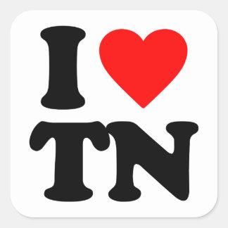 I LOVE TN SQUARE STICKER