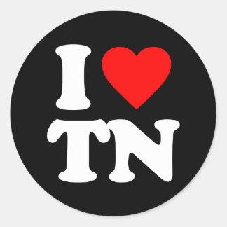 I LOVE TN ROUND STICKERS