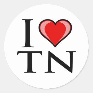 I Love TN - Tennessee Round Sticker