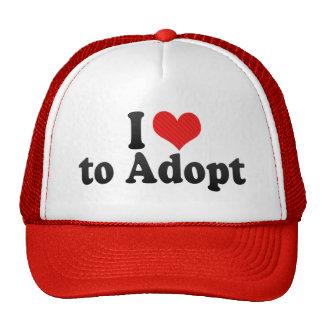 I Love to Adopt Mesh Hats