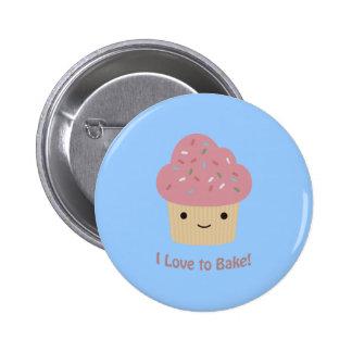 I love to Bake! Cute Cupcake Pin