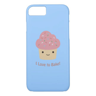 I love to Bake! Cute Cupcake iPhone 7 Case