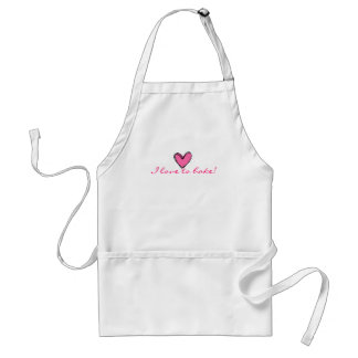 I Love To Bake Standard Apron