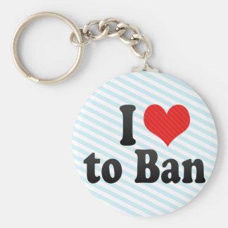 I Love to Ban Keychain
