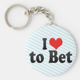 I Love to Bet Keychains