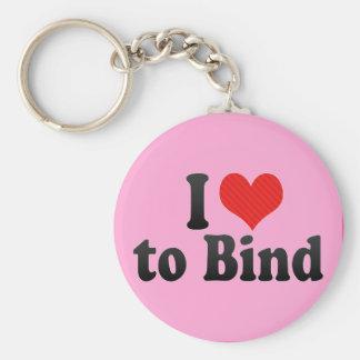 I Love to Bind Key Chains