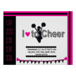 I Love To Cheer Cheerleading Poster