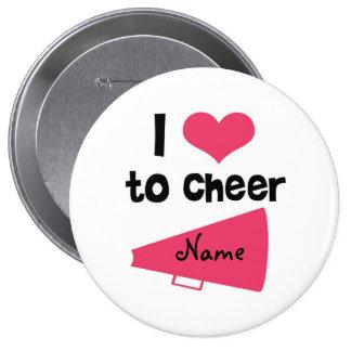 I love to Cheer - Cool Cheerleader Stuff 10 Cm Round Badge