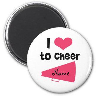 I love to Cheer - Cool Cheerleader Stuff 6 Cm Round Magnet