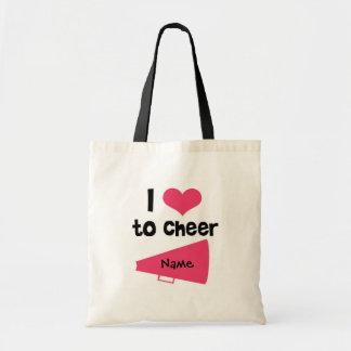 I love to Cheer - Cool Cheerleader Stuff Budget Tote Bag