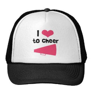 I love to Cheer - Cool Cheerleader Stuff Mesh Hat