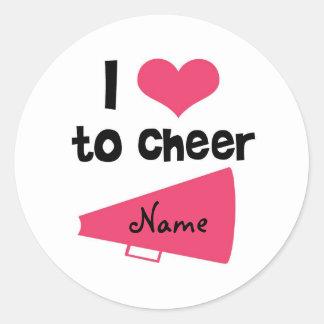 I love to Cheer - Cool Cheerleader Stuff Round Sticker