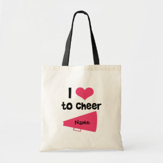 I love to Cheer - Cool Cheerleader Stuff Budget Tote Bag