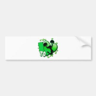 I Love to Cheer (Green) Bumper Sticker