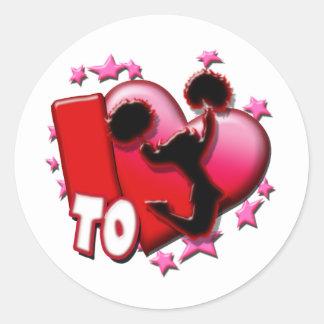 I Love to Cheer (Red) Classic Round Sticker