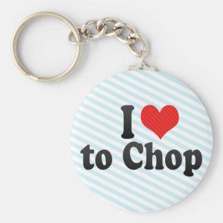 I Love to Chop Keychain