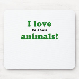 I Love to Cook Animals Mousepads