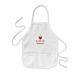 I love to cook with Grandma apron