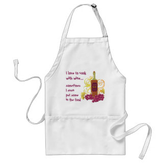 I Love to Cook with Wine...Wine & Grapes Standard Apron