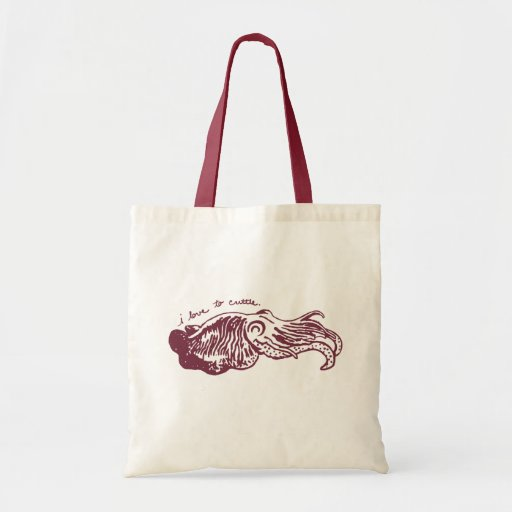I Love to Cuttle tote bag