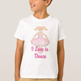 I Love to Dance - Little Ballerina T-Shirt
