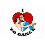 I Love to Dance Postcard